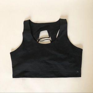 Good American black sports bra
